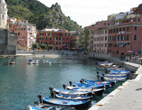 Vernazza Harbour on the Italian Riviera